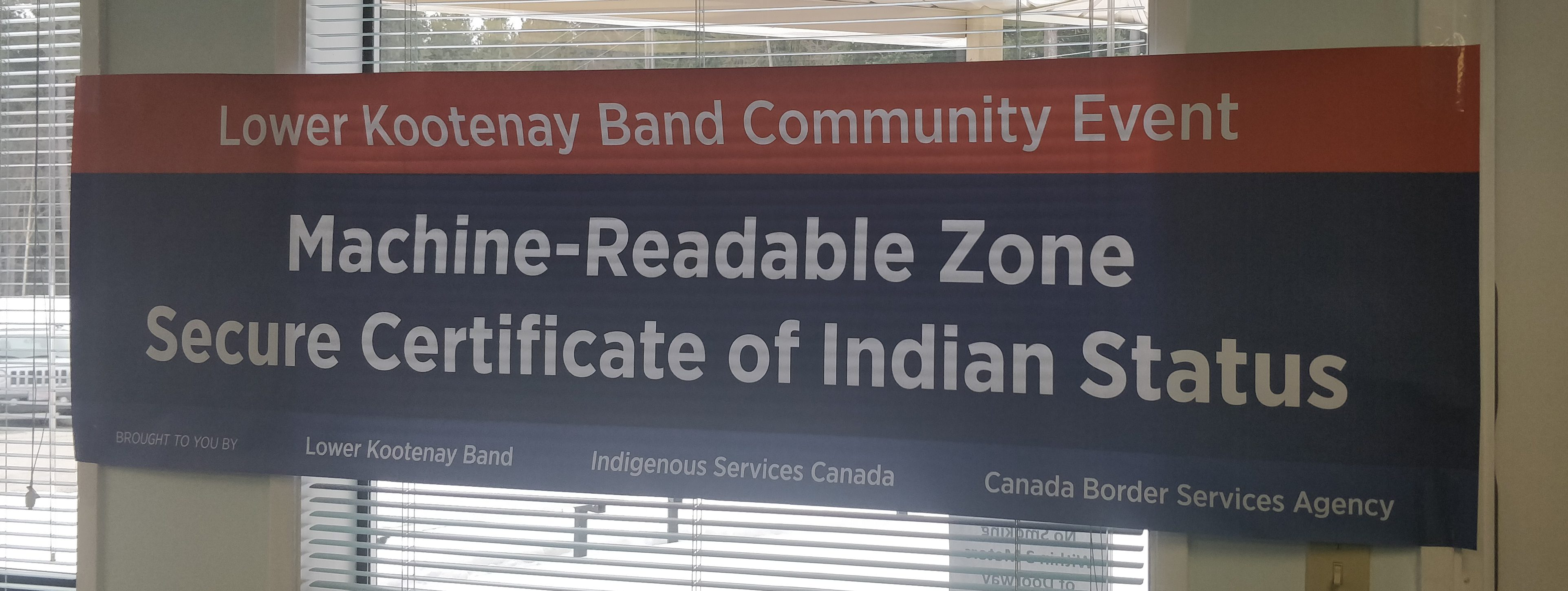 Lower Kootenay Band First To Launch A Machine Readable Zone My